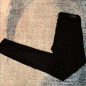 AG jeans black Farrah high rise skinny